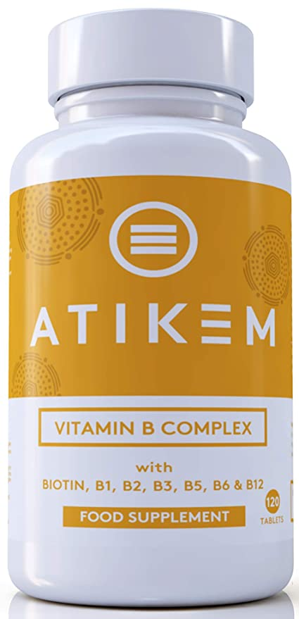 Vitamina B Complex 120 Tabletas - Las 8 vitaminas B Biotina, B1, B2,