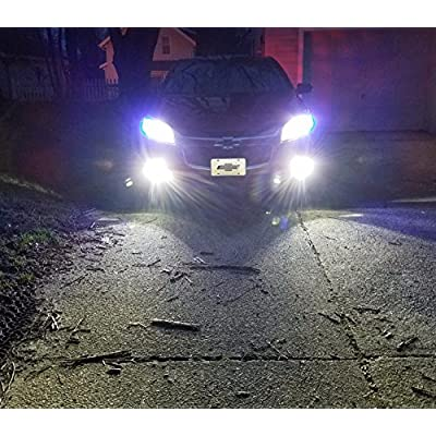 Alla Lighting 9145 H10 LED Fog Light Bulb, 6000K Xenon White 9140 9040 9045 PY20D ETI 56-SMD 3800 Lumens Extreme Super Bright CANBUS 6K 12V Replacement: Automotive