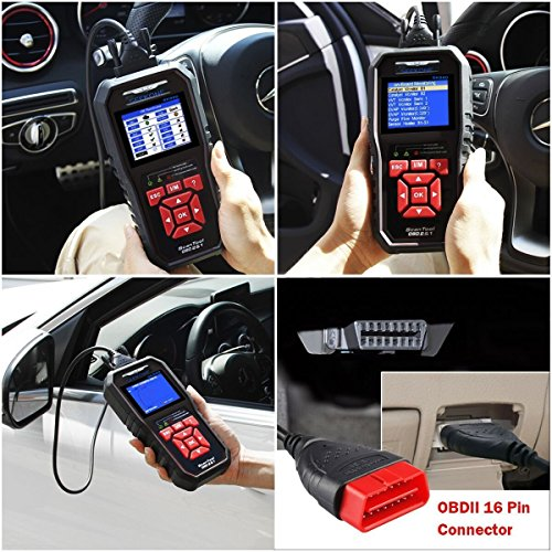 61cYRfDdPyL - SEEKONE OBD2 Scanner, Professional Car Auto Diagnostic Code Reader OBDII & CAN Vehicle Engine O2 Sensor Systems EOBD Scanners Tool for all OBDII Protocol Cars Since 1996(Upgraded SK860)