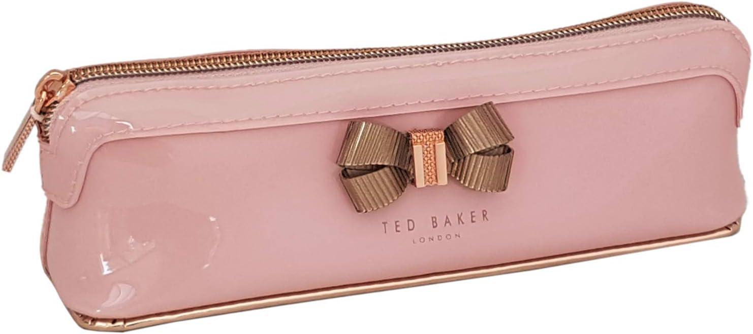 Ted Baker - Estuche para pinceles de maquillaje, diseño de lazo rosa pálido: Amazon.es: Oficina y papelería
