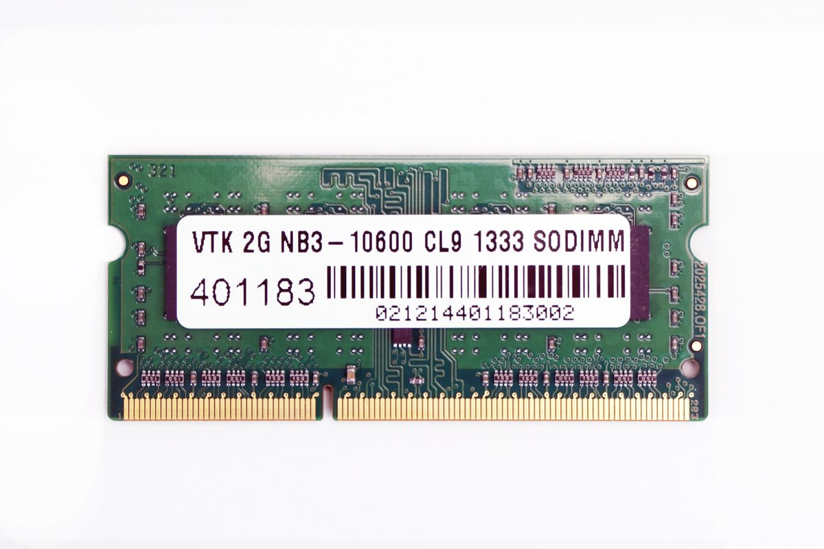VisionTek 2GB DDR3 1333 MHz (PC3-10600) CL9 SODIMM, Notebook Memory - 900448