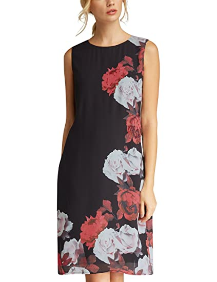Cheap Sale High Quality Womens Glamour: Black-Lipstickred-Flowers-Fake Leather Dress Apart Fashion Cheap Newest oUBmzYc
