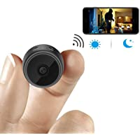 Spy camera Wireless Hidden Camera Mini WiFi Camera HD 1080P Small Nanny Camera Home Security Battery Powered Motion Detection Night Vision Remote Viewing