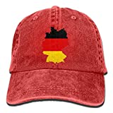 LETI LISW German FlagClassicDenim Cap Adult Unisex Adjustable Hat