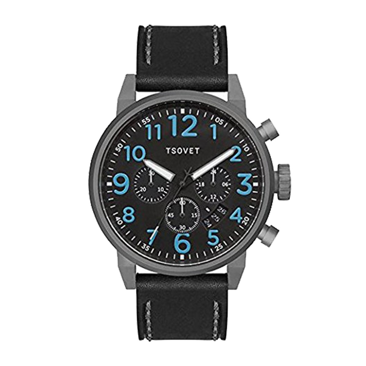 Tsovet Lederarmbanduhr - BLACK LEATHER - U