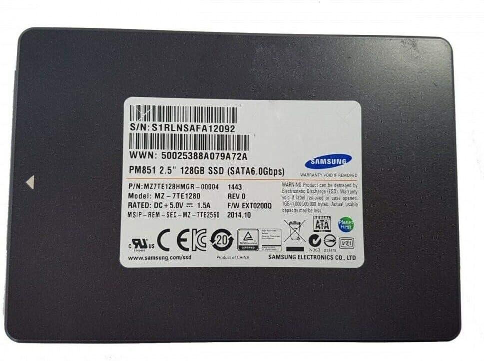 SAMSUNG - SSD de 128 GB MZ7TE128HMGR-000L1 SSD0E38400 16200604 45K0639 SATA de 2,5 Pulgadas: Amazon.es: Electrónica