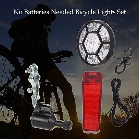 QKP Luces De La Bicicleta Kit del Sistema De Seguridad De La Bici ...
