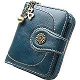Vintage Leather Cera de petróleo Corta de Las Mujeres Carteras Pequeños Lindo…