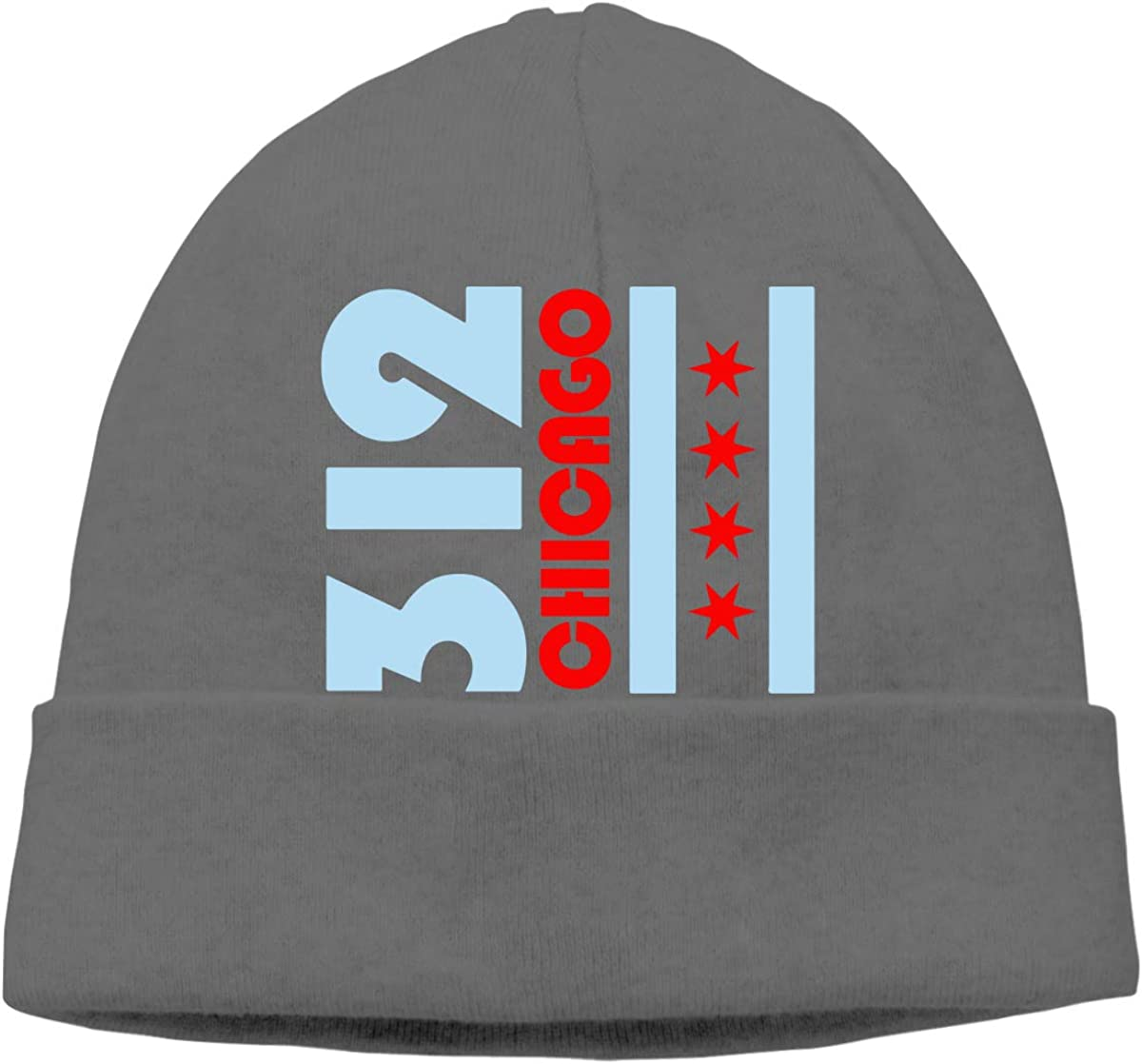 Fashion Skull Cap BF5Y3z/&MA Mens and Womens Chicago Flag 312 Knitting Hat