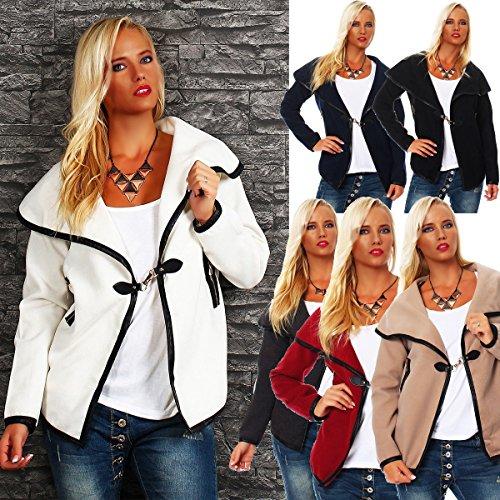 10258 Disponible 6 Gilet Fashion4young Veste Noir Femme Kiom En Courte Coupe Couleurs Max dw1Uqda