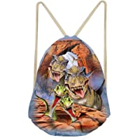 CLOHOMIN 3D Animal Drawstring Bag Gym Sackpack Hiking Yoga Swimming Backpack Travel Beach Gymsack
