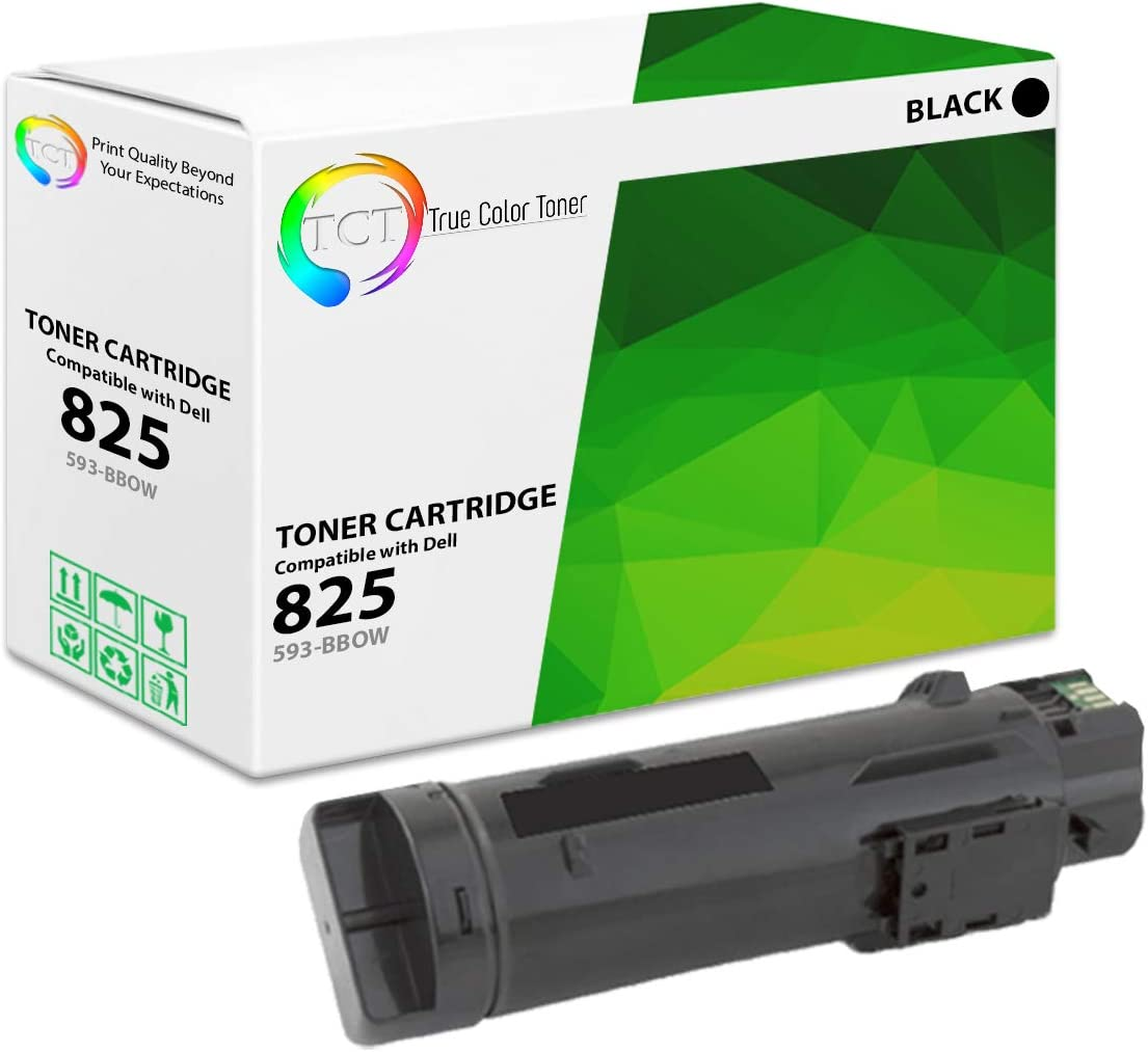 TCT Premium Compatible Toner Cartridge Replacement for Dell 825K 593-BBOW Black Works with Dell H625CDW H825CDW S2825CDN Printers (3,000 Pages)