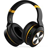 Active Noise Cancelling Bluetooth Headphones E8E Wireless Headphones Over Ear with Mic HiFi Stereo Deep Bass 20H Playtime Detachable Protein Earpads Plane Adapter Hard Case for Work Travel TV Phone