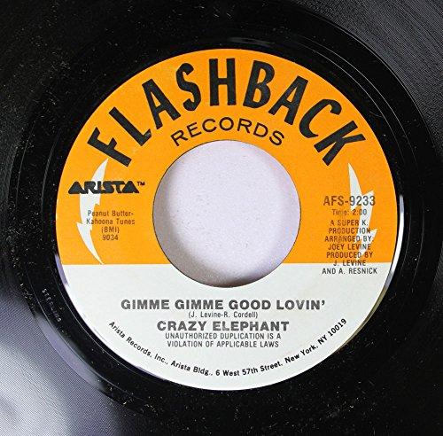 Crazy Elephant 45 RPM Gimme Gimme Good Lovin' / Little Girl