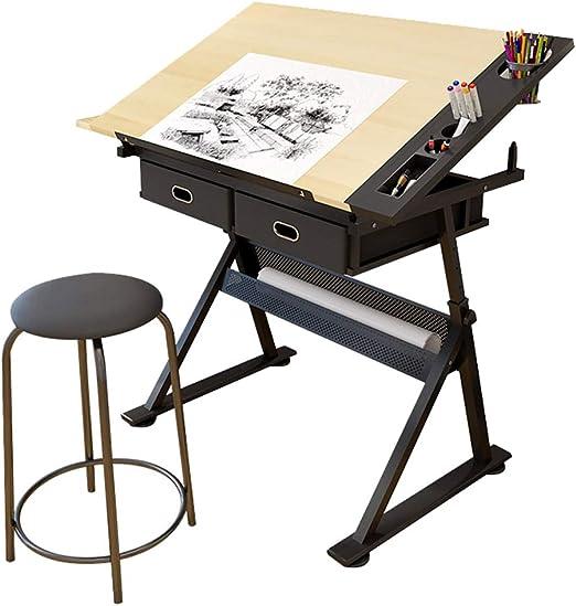 CUI XIA UK Mesa de Dibujo de Altura Ajustable con ángulo de ...