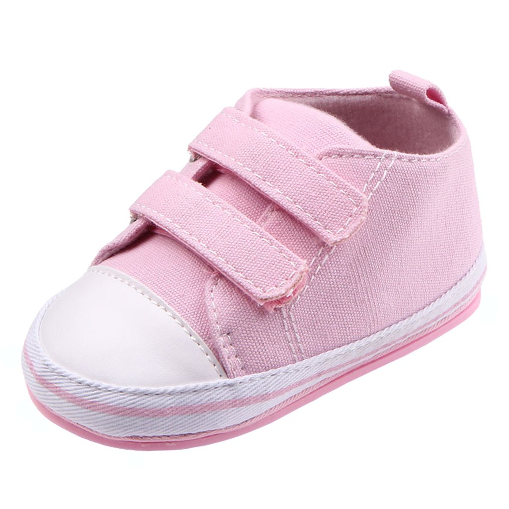 Annnowl Baby Sneakers Canvas Shoes 0-18 Months (12-18 Months, White) Ann61112