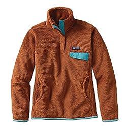 Patagonia Women\'s Re-Tool Snap-T Fleece Pullover (Medium, Saddle X-Dye)