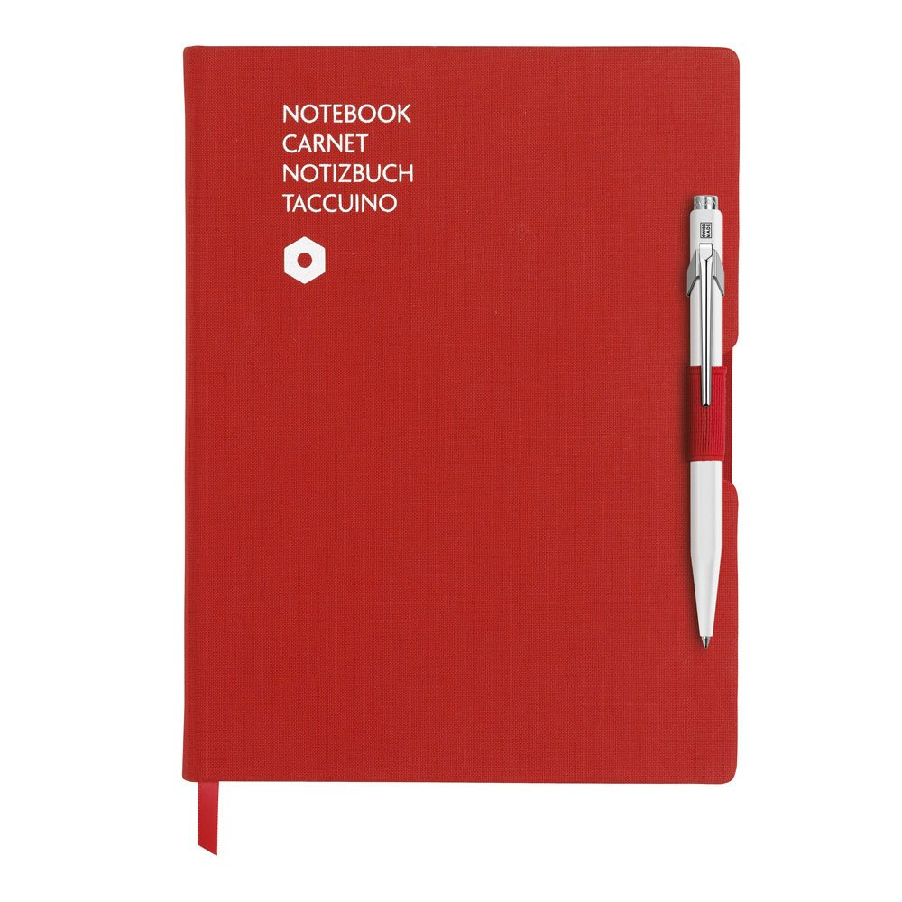 Caran d'Ache 849 BP White & Notebook Office A5 Red (8491.403)