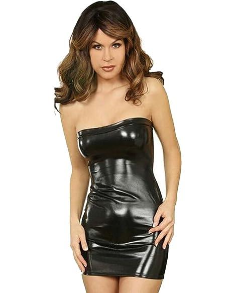 9180b32ee85 Fashion Queen Women s Sexy Shiny Metallic Strapless Mini Tube Dress 5  Colors (One Size