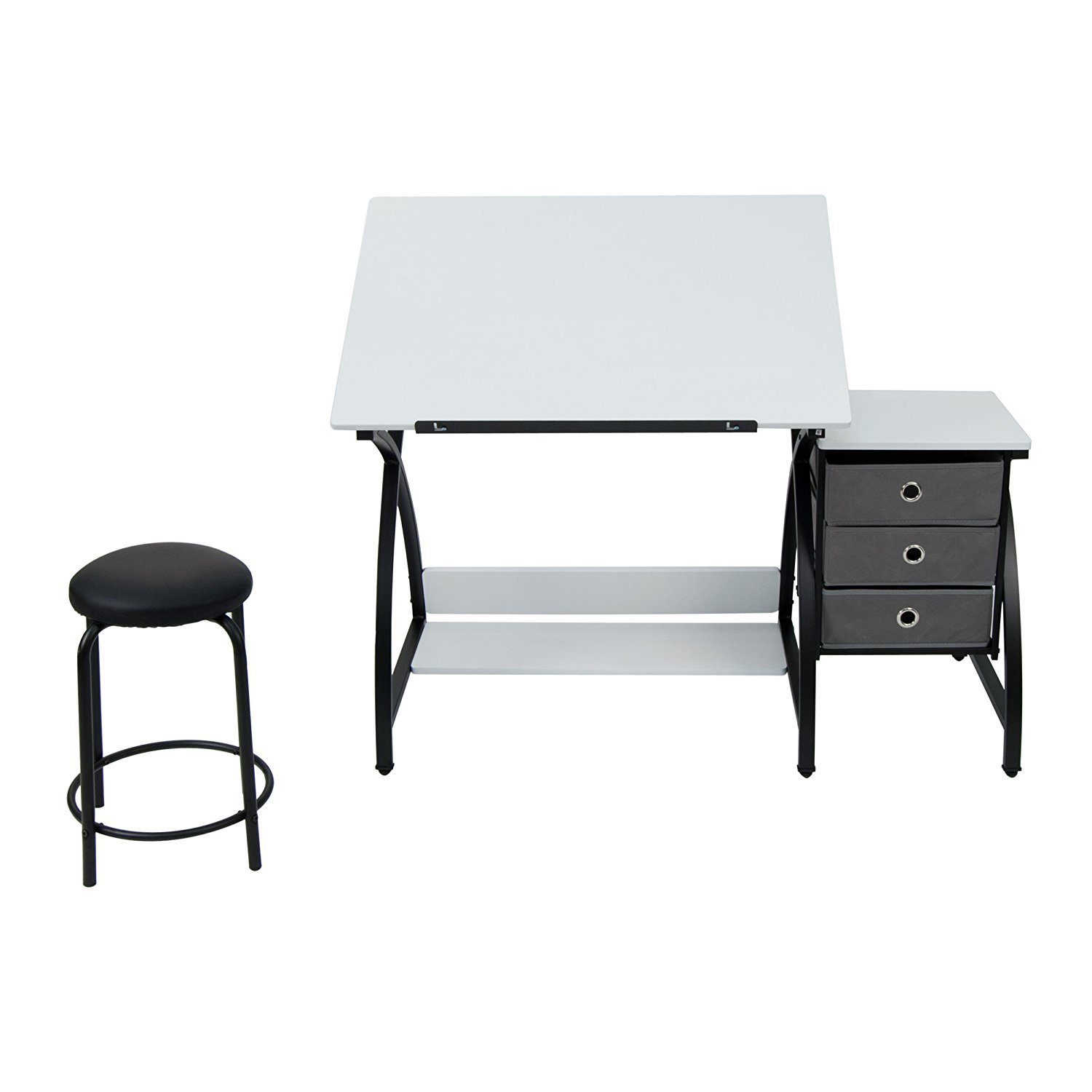 Studio Designs 13326 Comet Center with Stool, Black/White by SD STUDIO DESIGNS (Image #5)