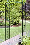 Garden Arch 7.5-ft Tall Outdoor Decorating Metal Arbor Black Frame with English Traditional Design