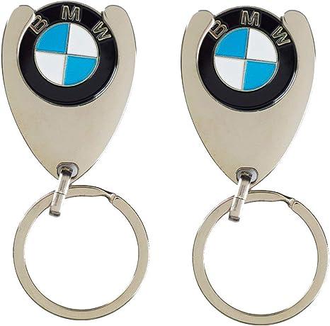 Bmw 2 Stück Original Schlüsselanhänger Einkaufs Chip Einkaufswagen Einkaufschip 1er 2er 3er 4er 5er 6er 7er X1 X2 X3 X4 X5 X6 Bekleidung