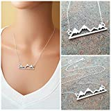 Mountain Bar Necklace - The Mountains Are Calling - Sterling Silver Jewelry