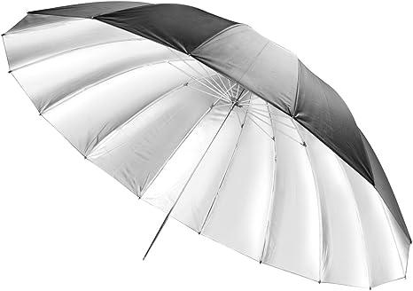 Walimex Pro - Paraguas difusor réflex (diámetro 180 cm), Negro y ...