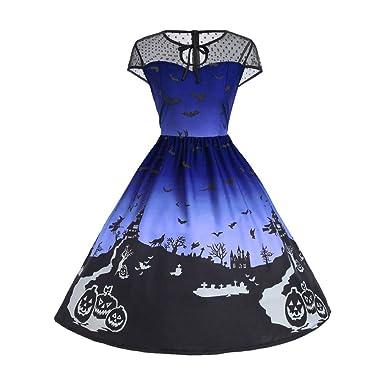 b350a67855c1e6 ... Jahrgang Kleid Mesh Patchwork Ärmellos Party Kleid Persönlichkeit  Minikleid Schlank Wild Kurzerkleid Casual Hoch Taille Dress: Amazon.de:  Bekleidung