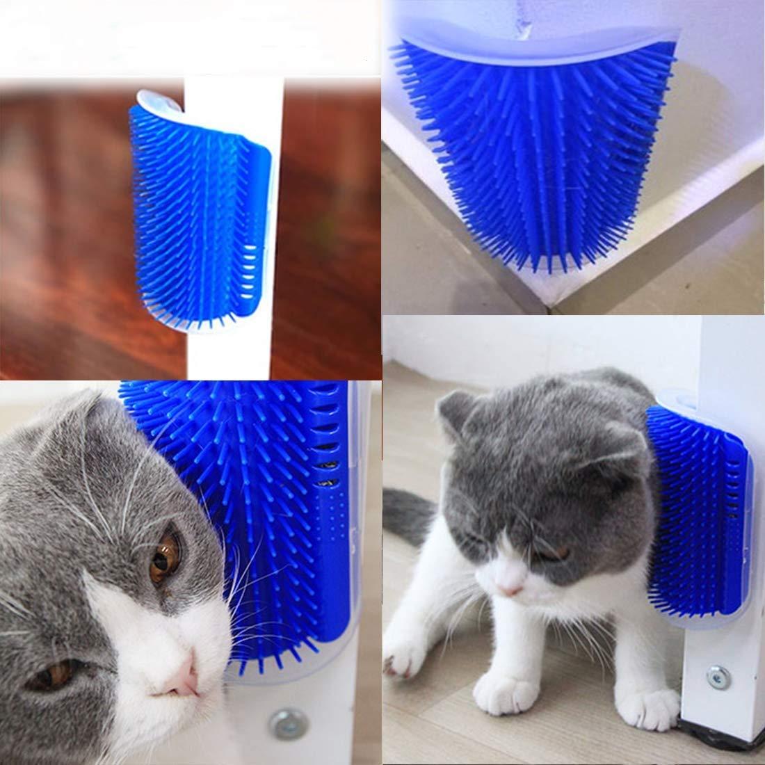 HuaDingTech 2 UNIDS Cat Self Groomer, Cats Corner Groomer Wall Corner Masaje Peine Cepillo de Aseo Masajeador Herramienta para Gato Perro Gato Cepillo ...