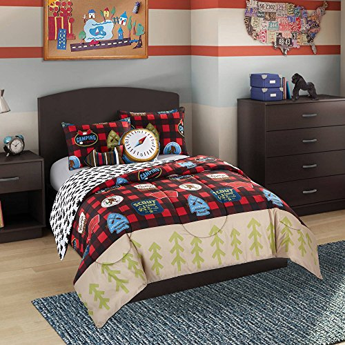 Better Homes and Gardens Kids Plaid Scout Camping Stripe Reversible