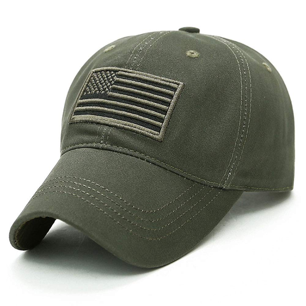 df7bd480a27 BUJIATE Baseball Caps, American Flag Hats, Military Hats, Polo Hat, Dad-Hats  for Father's Day, Thanksgiving Gift (Army Green) at Amazon Men's Clothing  store ...
