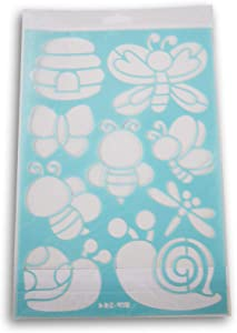 Color Factory Multi-Media Bugs and Bees Party Stencil - 7.5 x 11 Inches