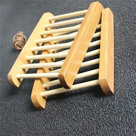 AUCH 2 Pack naturaleza estilo escalera tacos de bambú los ...
