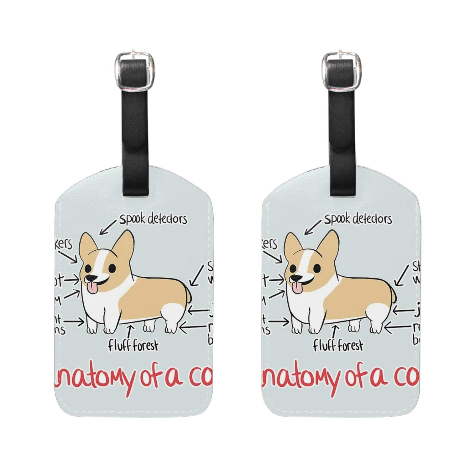 Bear Print Luggage Identifiers with Strap Closure