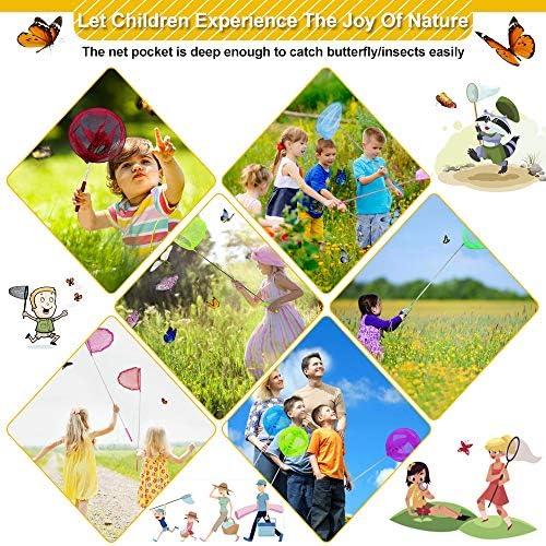 Kinder Ausziehbare Stange Insekt Schmetterlings Net-Mesh Pocket Fishing Kescher
