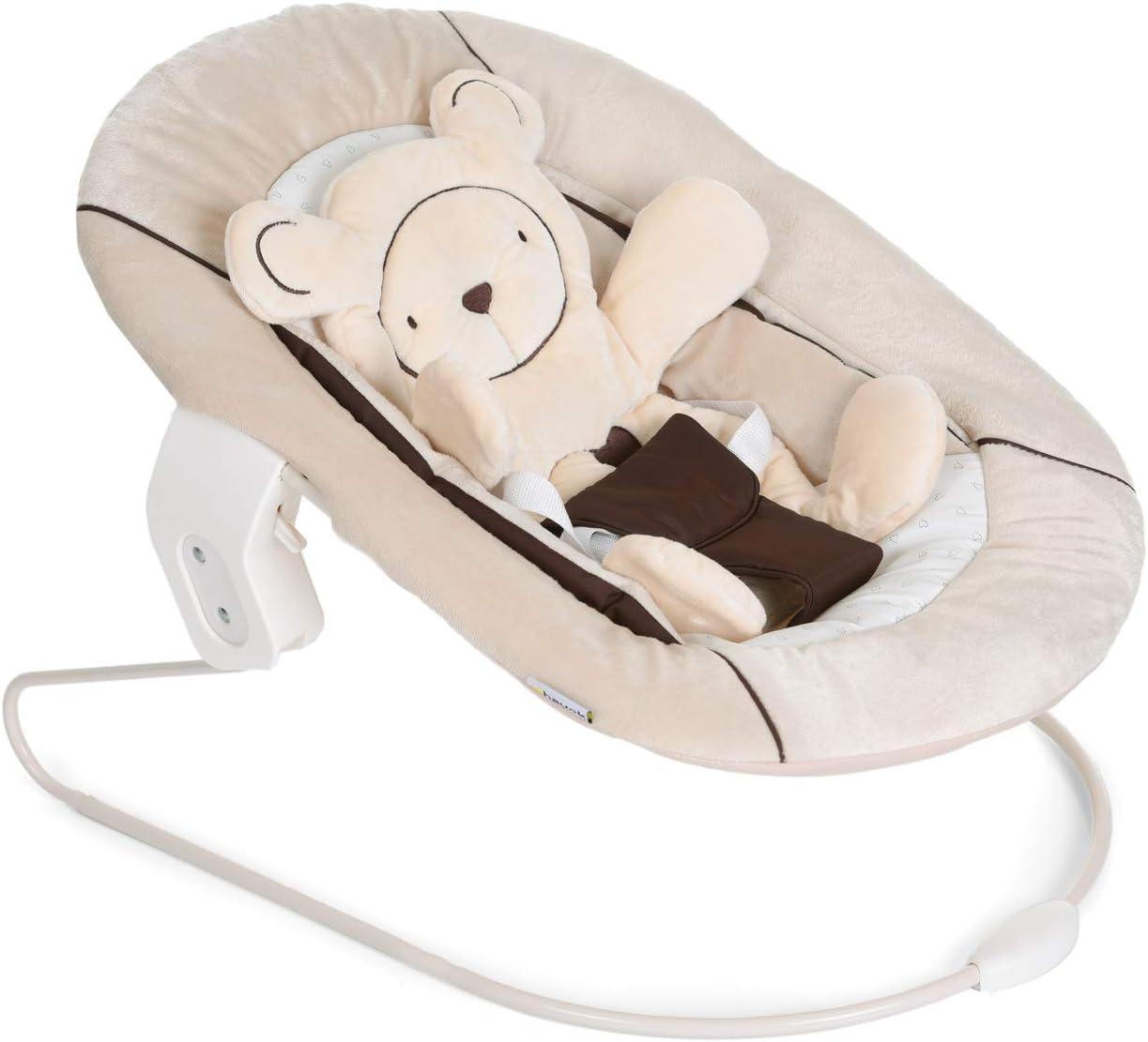 Hauck Alpha Bouncer 2in1 para recién nacido, hamaca de tejido suave, combinable con trona de madera evolutiva Alpha+ y Beta+ de HAUCK, incluido reductor, mecedora para bebes, Beige: Amazon.es: Bebé