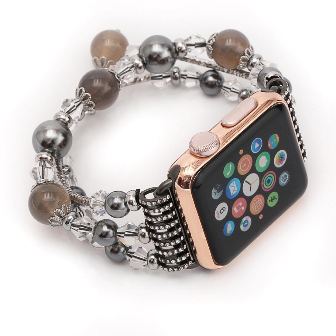 ファッションバンド、Ankolaビーズ付き腕時計ストラップスポーツ手首ブレスレットバンドfor Apple Watch 38 mm / 42 mm 38mm C 38mm|C C 38mm B072C2C39B