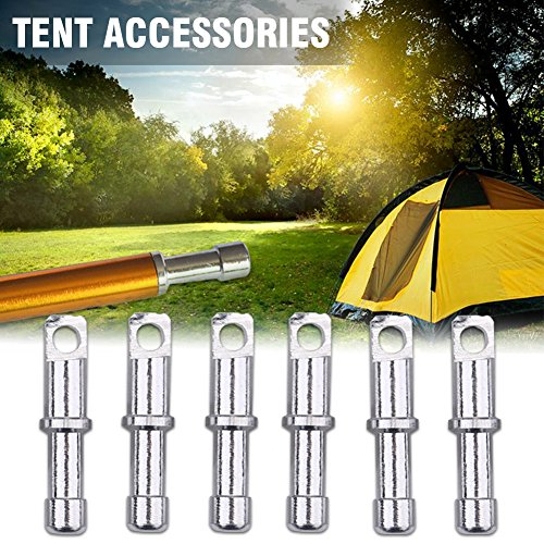 10Pcs/Set 8.5mm DIA Tent Pole End Plugs Aluminium Alloy Tent Pole Replacement Accessory for Camping Hiking Repair Tube Tent Tool