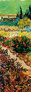 1art1 Vincent Van Gogh Poster Art Print - Blossoming Garden and Path, 1888, Detail (62 x 21 inches)