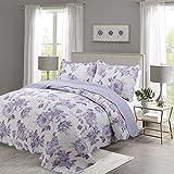 queen quilt and shams - Vivinna Printing quilt queen size Sets -3pcs include 2 pillow Shams patchwork Bedspread blanket (Queen:90