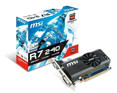 MSI VGA AMD Radeon R7 240 1GD3 64B LP 1GB DDR3: Msi: Amazon.es ...