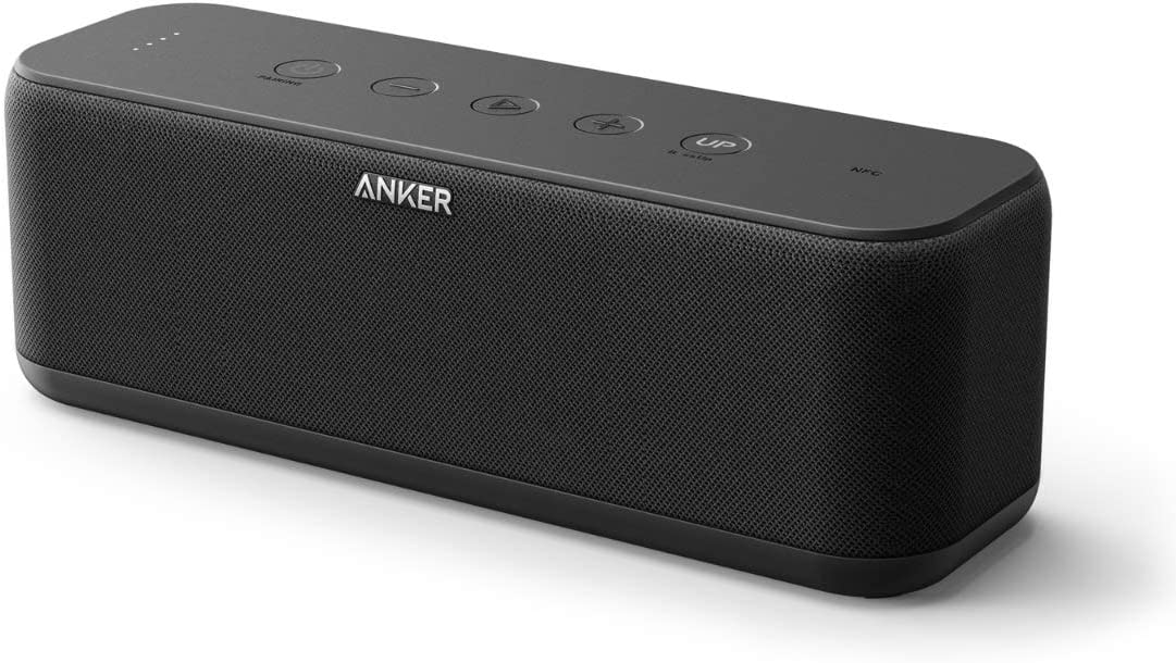 Anker SoundCore Boost 20W Bluetooth Speaker with BassUp Technology – 12h Playtime, IPX5 Water-Resistant, Portable Battery with 66ft Bluetooth Range Superior Sound Bass Renewed