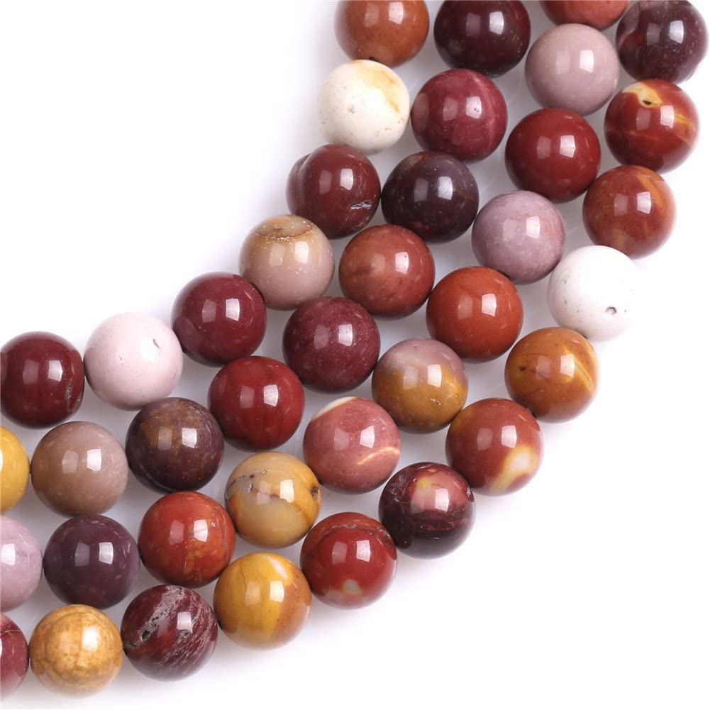 Mookaite Jasper Beads for Jewelry Making Natural Gemstone Semi Precious 8mm Round 15 JOE FOREMAN