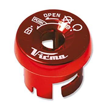 V PARTS - 751RJ/54 : V PARTS - 751RJ/54 : Embellecedor cerradura yamaha aerox COLOR ROJO: Amazon.es: Coche y moto