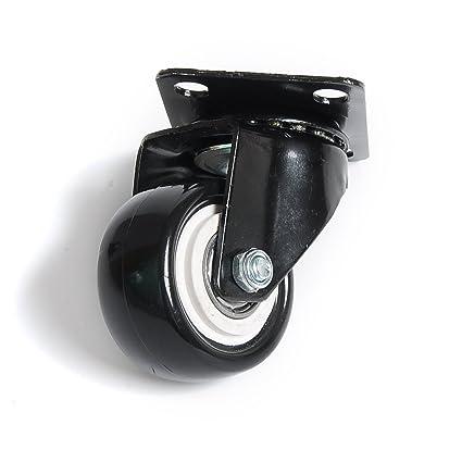 Rueda giratoria de rueda de rueda de poliuretano para ruedas de coche, ruedas de goma, resistente, 200 kg, 50 mm