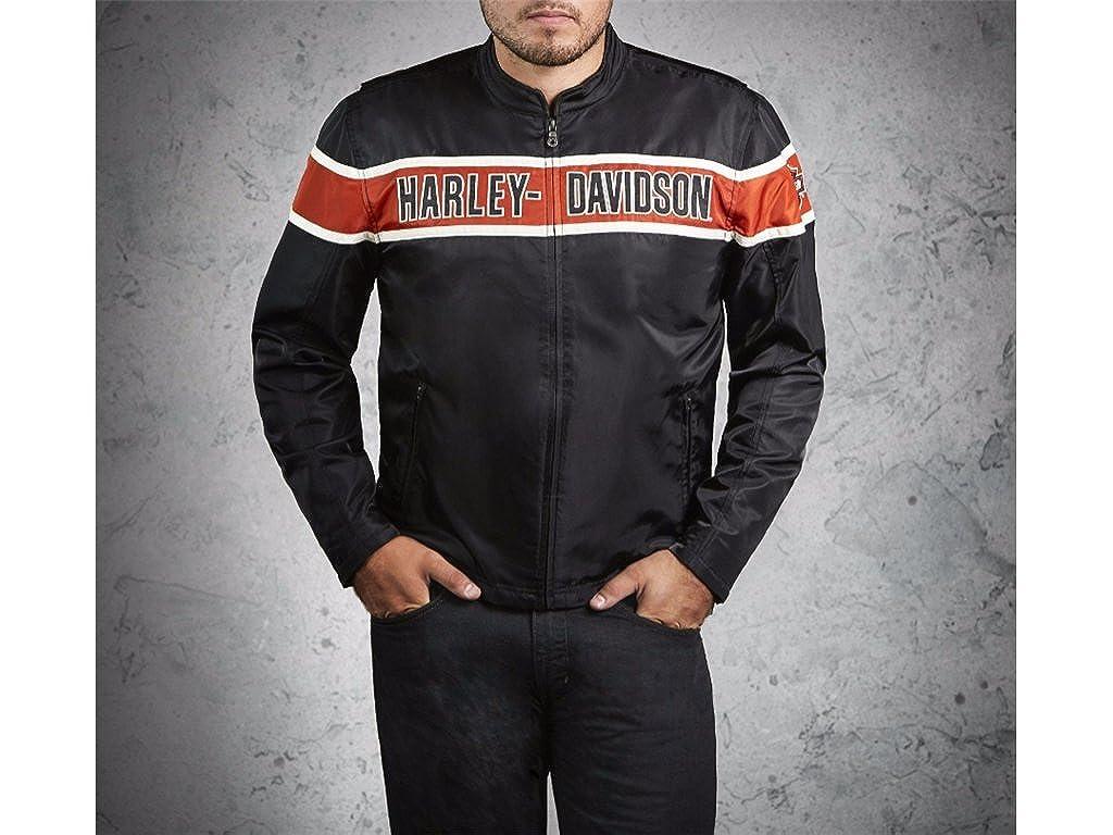 Harley Davidson - Chaqueta - para hombre Schwarz/Orange/Weiß ...