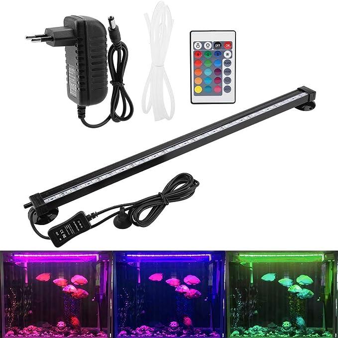 zerodis LED para acuario sumergible BURBUJA de acuario Bubble Light con mando a distancia Submarino lámpara LED de color para kit Luz acuario: Amazon.es: Productos para mascotas