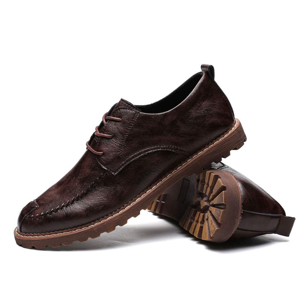 XHD-Schuhe Herren Einfache Business Oxford Casual Einfache Klassische Runde Spitze Spitze Spitze Formelle Schuhe (Warm Optional) (Farbe   Warm Dark braun, Größe   47 EU) ff1d2a
