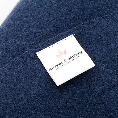 SPENCER&WHITNEY Womens Fashion Poncho Light And Breathability 100 Wool Blanket Scarf Luxury Womens Warm Poncho